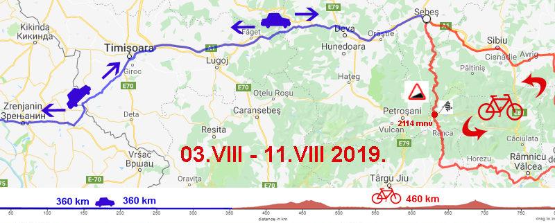 Najava Ciklo ture Avgust 2019.